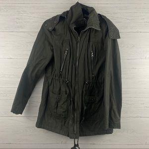 Forever 21 Olive Green Zip Up Utility Jacket